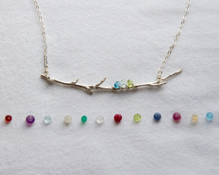 Family Branch Birthstone Necklace|Mother's Birthstone Jewelry