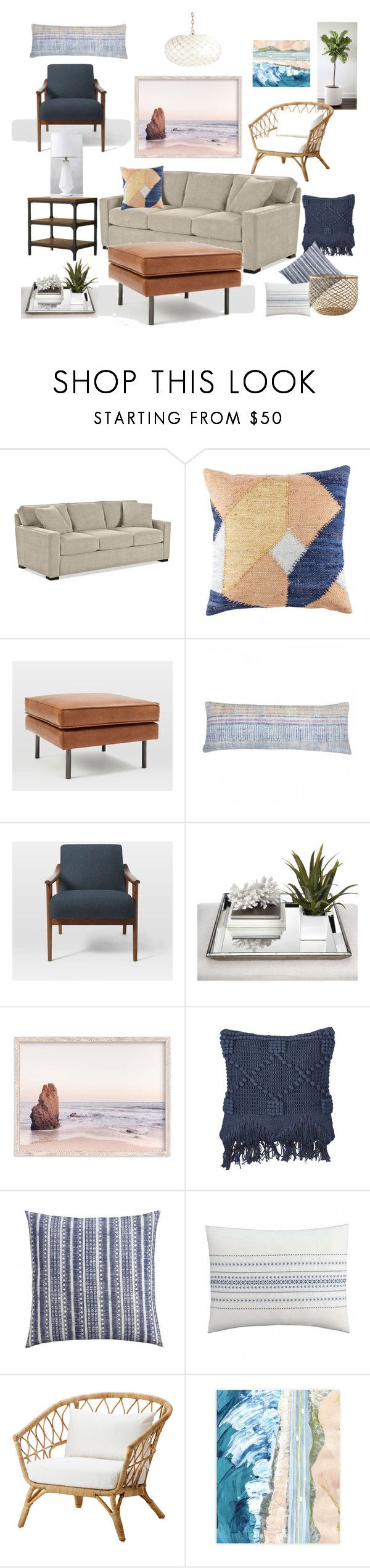Corte Madera Living Room Refresh by noelkvis on Polyvore featuring interior, interiors, interior design, home, home decor, interior decorating, West Elm, Serena & Lily, Millà and cupcakes and cashmere