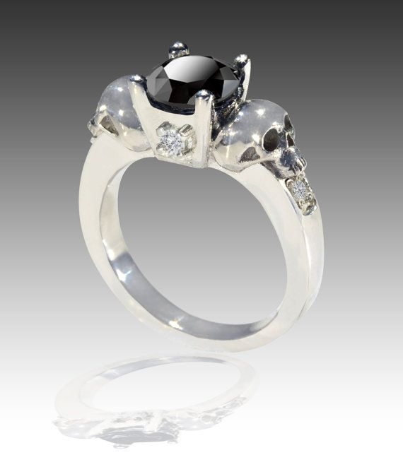 Hey, I found this really awesome Etsy listing at https://www.etsy.com/listing/168669449/14k-white-gold-black-and-white-diamond