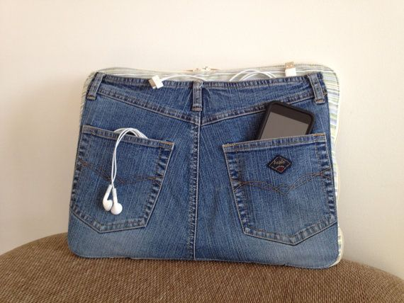 Laptop jean denim sur etsy