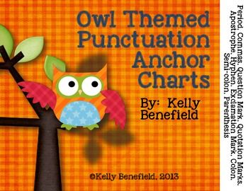 Not only will these cute owl themed punctuation posters help decorate your classroom, they will also help remind your students how to use these punctuation marks correctly.  Use these posters on a classroom bulletin board, to decorate your classroom walls, in a center, or for students at stations.