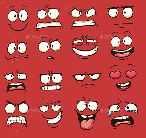 Cartoon Faces Vector EPS. Download here: https://graphicriver.net/item/cartoon-faces/15215530?ref=ksioks