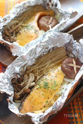 生鮭&きのこホイル焼き✿味噌マヨネーズ✿ by アトリエ沙羅 [クックパッド ...
