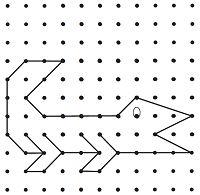 Schrijfoefening: stippentekening. Teken de krokodil na, van stip naar stip Groep 1/2 Hieronymusschool :: groep1en2hiero.yurls.net