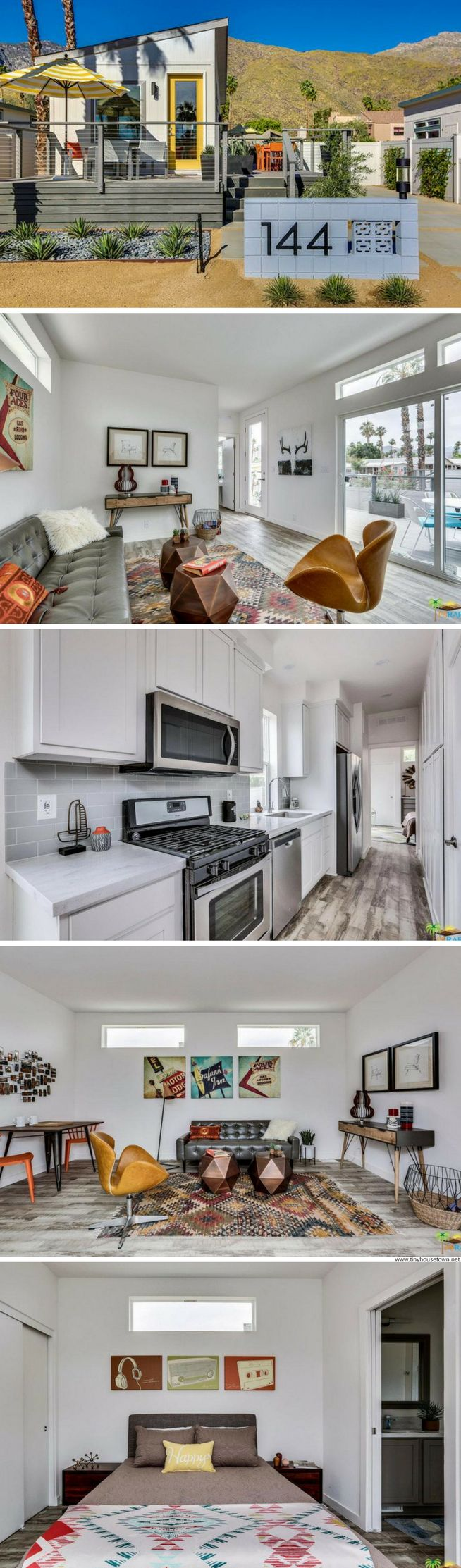 Palm Canyon Pre-Fab Home: features two bedrooms, two bathrooms, and 800-sq-ft of beautifully designed space!