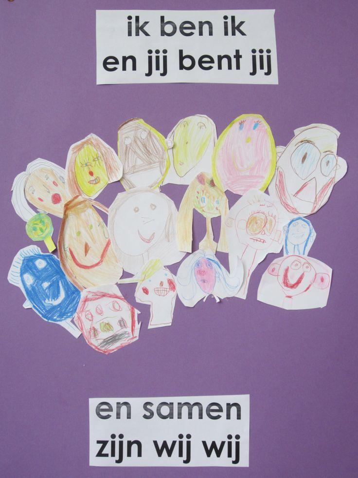 Groepwerk aan het begin van het schooljaar. Versje komt uit 'leesdas lettervos boekentas'