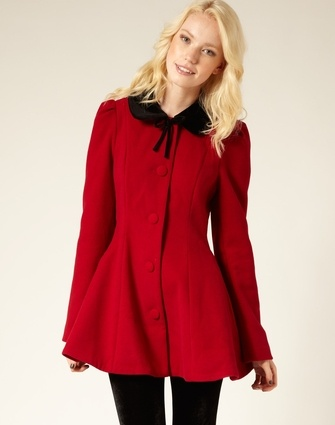 Really like this winter bow front coat!