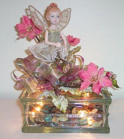 "Illuminated ""Angel""  Glass Block @thriftyfun.com"