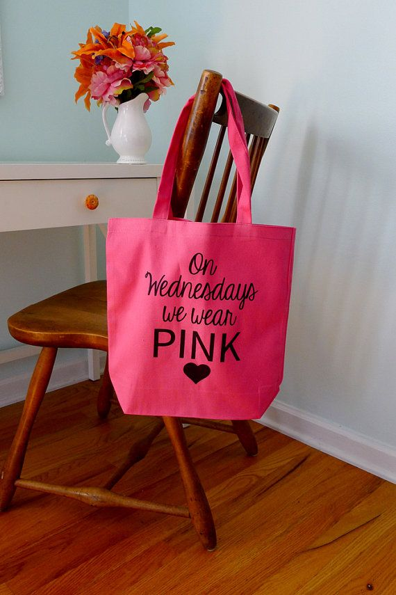 Mean girls tote bag On wednesdays we wear pink by rachelwalter, $14.00