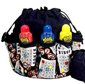 Large Bingo Bag 10 Pockets by BINGOISOURGAME on Etsy