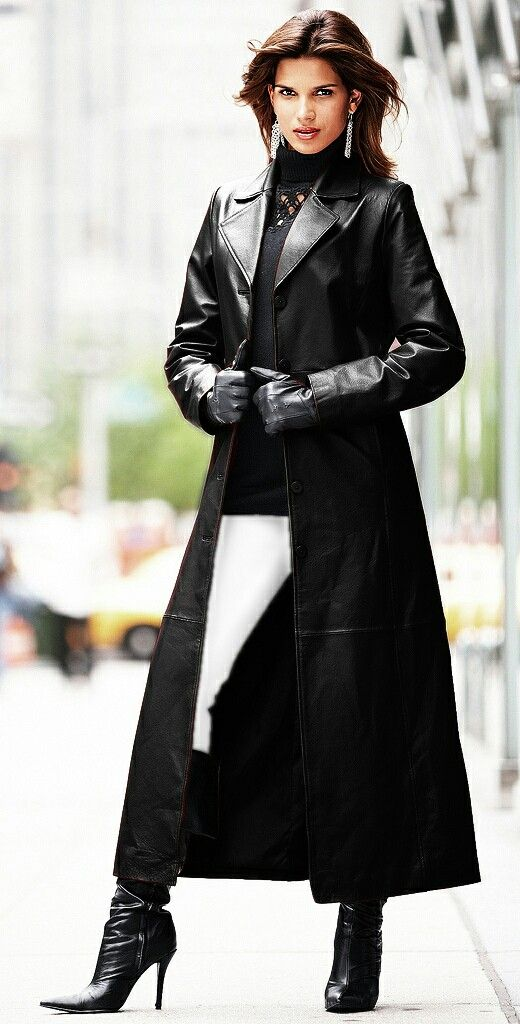 264 best Leather Trench Coats images on Pinterest | Trench coats ...