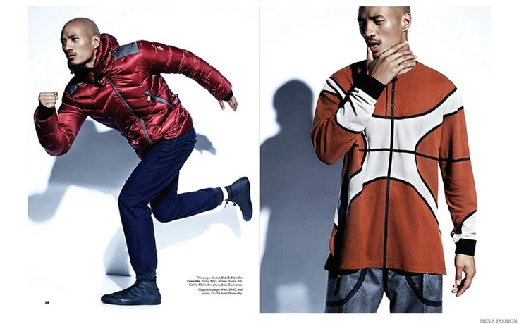 After showing us his best dance moves in a prior issue of Men's Fashion, Paolo Roldan reunites with the magazine and photographer Gabor Jurina for a sports-inspired spread. Outfitted by stylist Derek Lall, Paolo models sporty pieces from the likes of Givenchy, showing a high-end love for athletic fashions. / Grooming by Vanessa Jarman (P1M).   Related