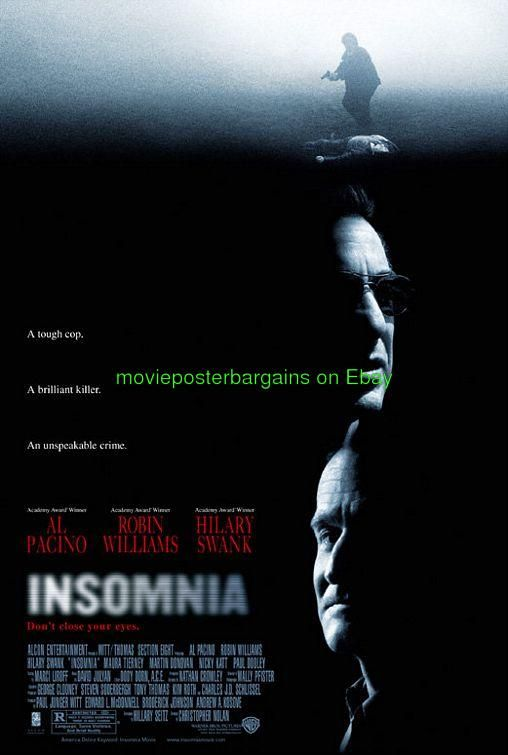 robin williams movie posters | Insomnia Movie Poster 27x40 SS Al Pacino Robin Williams Christopher ...