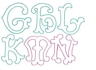 RECREAR - MANUALIDADES - ARTE: Molde de letras grandes y originales.