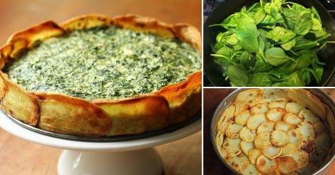 Tarta de espinaca con base de patatas http://www.labioguia.com/notas/tarta-de-espinaca-con-base-de-patatas