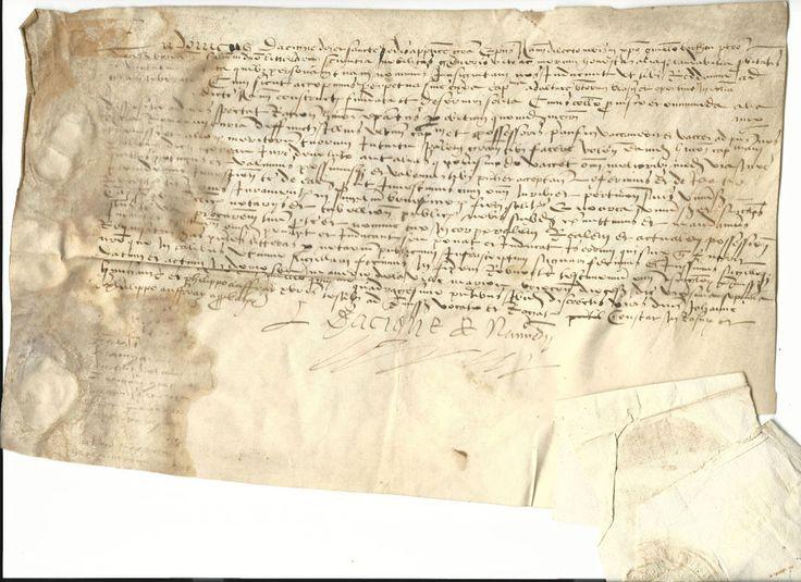 LOUIS D ACIGNÉ (-1542) ÉVÊQUE DE NANTES. TESTAMENT ORIGINAL SCELLÉ, VELIN  J418