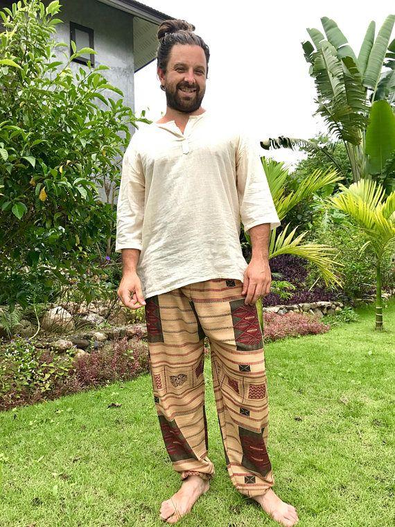 Mens Bohemian Pants // Bohemian Pants Mens // Mens Boho Pants
