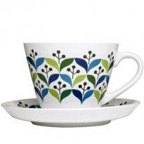 Scandinavian cup and saucer- tassa i plat escandinaus