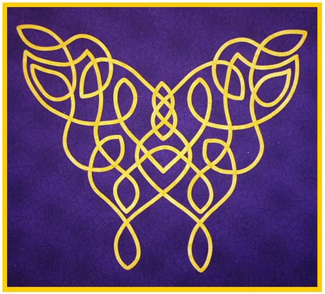 Written by @Marsha Penner Penner Penner Penner Myrum:  My Celtic butterfly applique wall hanging