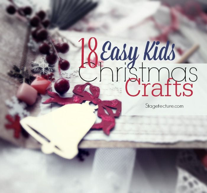 18 Easy Christmas kids crafts to keep them busy during the entire winter break! #kids #activities #diy