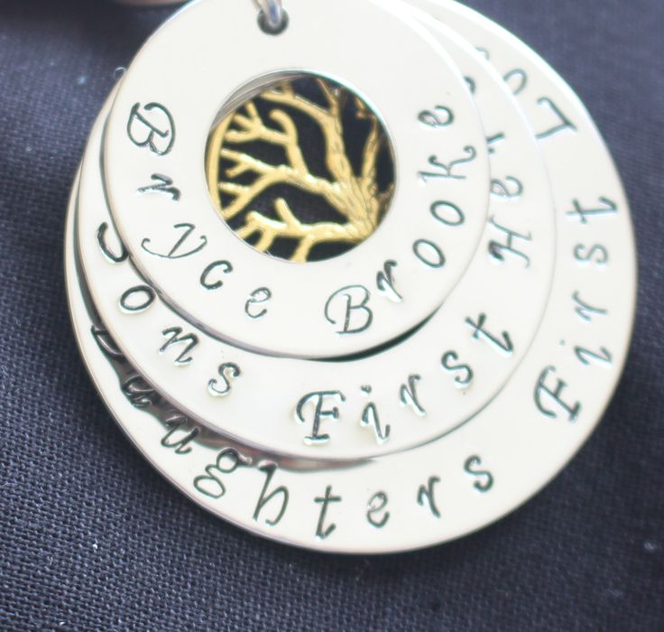 Personalised hand stamped photo key ring - childrens name and solan by Giftitright on Etsy