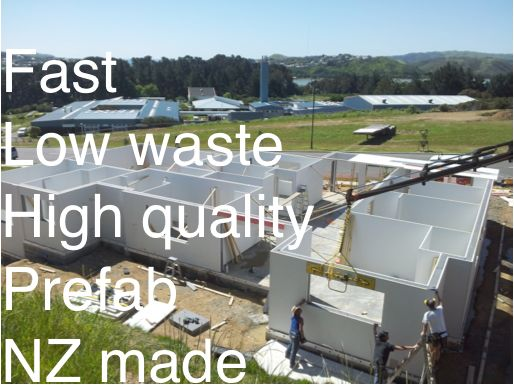 What's a fast, high quality way to build houses with very little construction waste, using a kiwi made product?  http://homestylegreen.com/metrapanel/