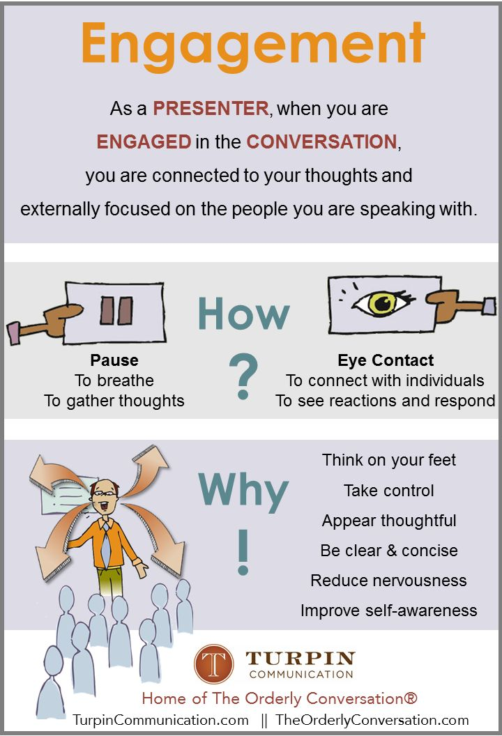 Successful Presenters Engage People in a Conversation Do you know how and why this is so important? http://theorderlyconversation.com/wordpress/successful-presenters-engage-people-in-a-conversation/?utm_campaign=coschedule&utm_source=pinterest&utm_medium=Greg&utm_content=Successful%20Presenters%20Engage%20People%20in%20a%20Conversation