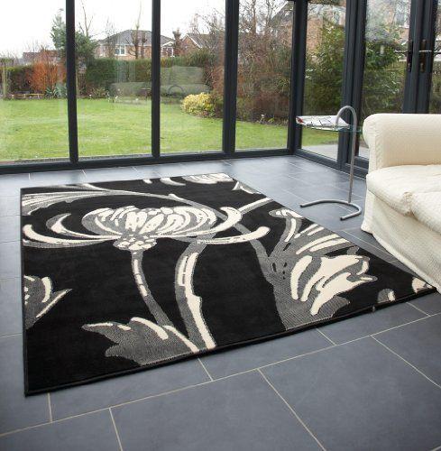 "Modern Large Rug in Black Grey 120 x 160 cm (4' x 5'3"") Carpet by Lord of Rugs, http://www.amazon.co.uk/dp/B005ELE1NW/ref=cm_sw_r_pi_dp_uq3prb12CX03F"
