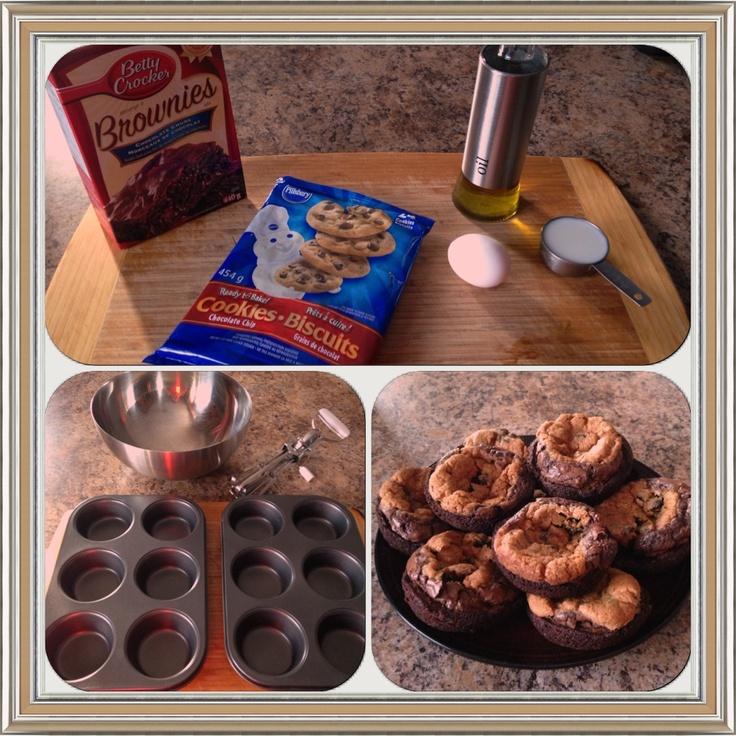 Brownie/chocolate chip cookies.