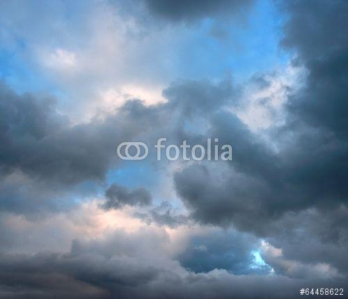 Rainy clouds on summer evening