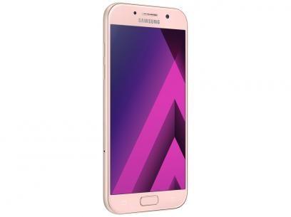 """Smartphone Samsung A7 2017 32GB Rosa Dual Chip - 4G Câm. 16MP + Selfie 16MP Tela 5.7"""" Octa Core com as melhores condições você encontra no Magazine Gatapreta. Confira!"""