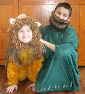 St. Daniel and the Lion costume for All Saint's Day