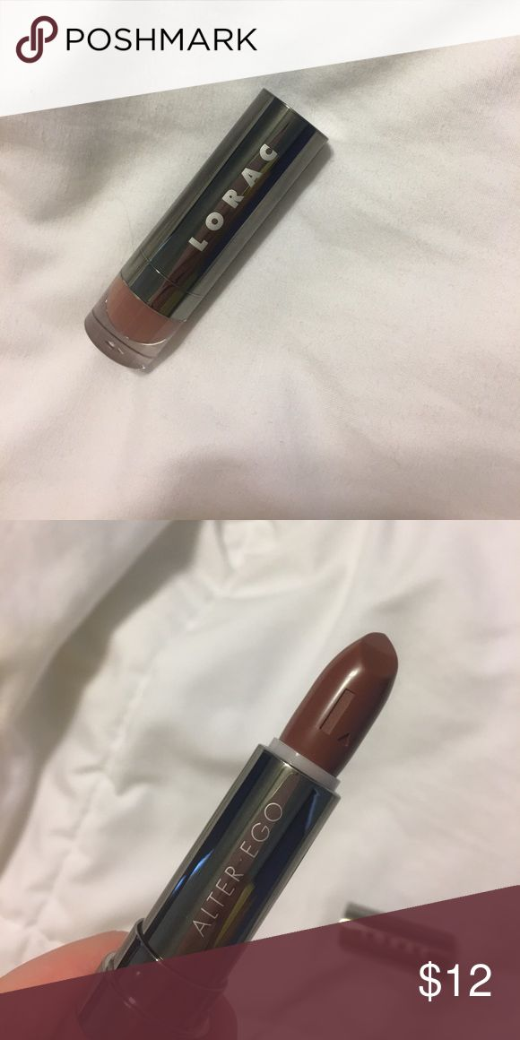 """Lorac lipstick Lorac alter ego lipstick in """"snow bunny."""" Warm brown shade for all skin tones. New, never used, never swatched. Retails for $18. LORAC Makeup Lipstick"""