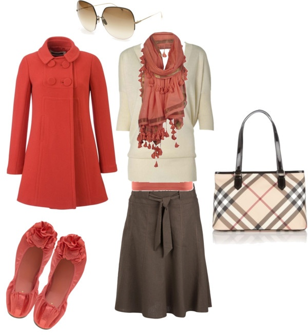 """""""coral and brown"""" by angie-roldan-taylor on Polyvore"""