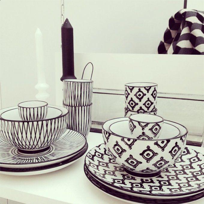 Coup de cœur du jour : l'art de la table Black&White de Monoprix