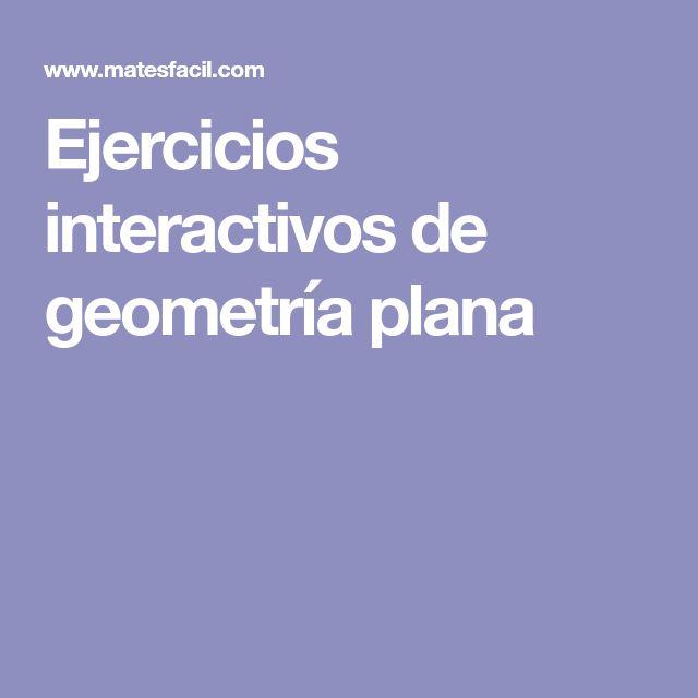 Ejercicios interactivos de geometría plana
