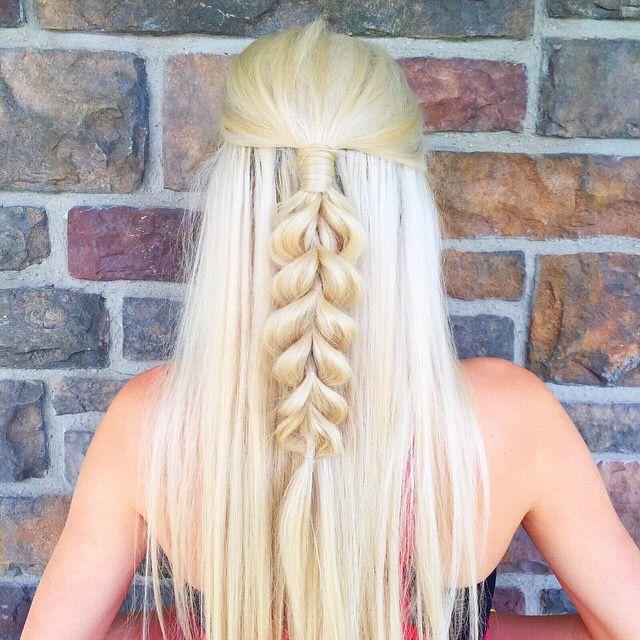 aspyn ovard faux half up braid