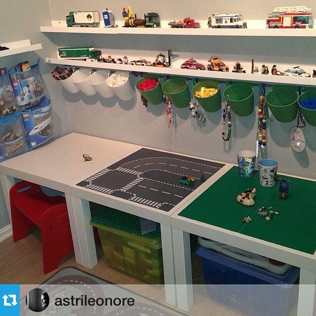 """#Repost @astrileonore with @repostapp. ・・・ Må vise dere """"Lego-hjørnet"""" jeg har laget til Jasper. Så fornøyd #IKEA #IKEAhackers #IKEAhack #IKEAhacks #IKEAhacking #이케아 #이케아해커스 #이케아해킹"""