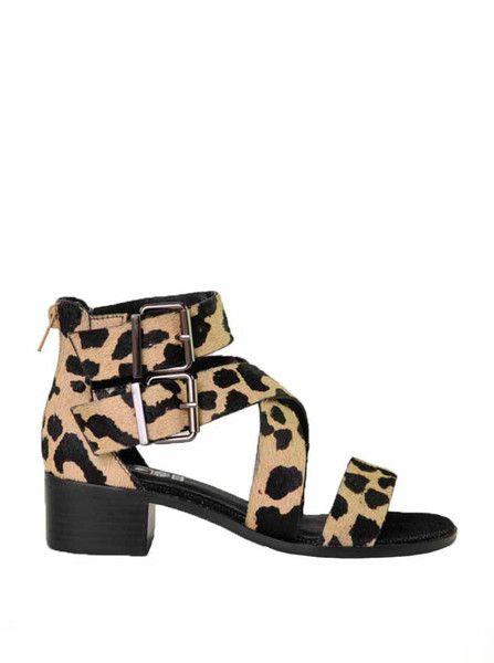 Soles Shoes - Master Sandals - Big Splat Pony Print $139.90
