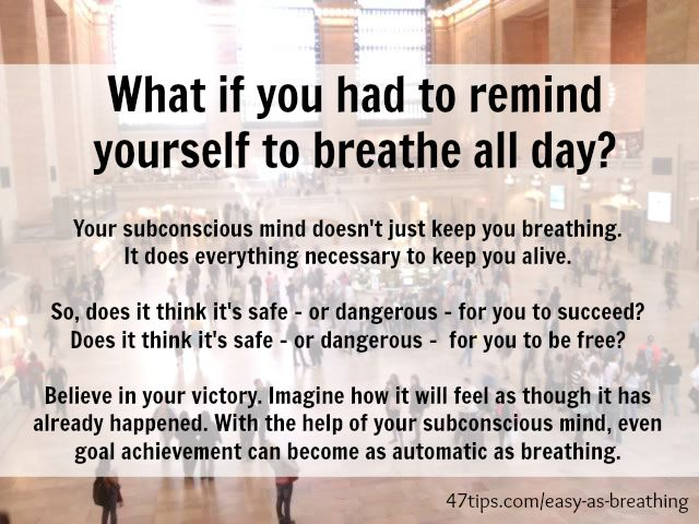 Goal Achievement as Easy as Breathing   47 Positive Thinking Tips