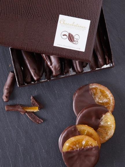 Chocolatines - Dipped Oranges