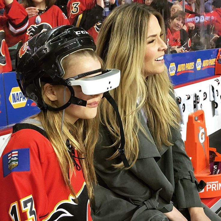 "NHL on NBC Sports on Instagram: ""A legally blind fan had the opportunity to watch her first #Flames game last night thanks to some new technology …"""