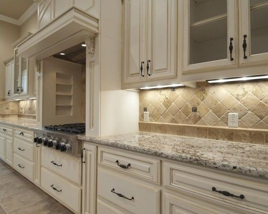 17 best images about kitchen backsplash on pinterest utah off white cabinets and dark cabinets - Backsplash designs travertine ...