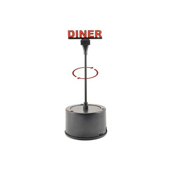 Miller Engineering Rotating Sign, Diner