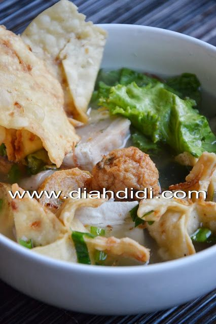 Diah Didi's Kitchen: Bakso Udang Kuah Komplet..Satu Adonan Jadi Macam Macam Isian Bakso