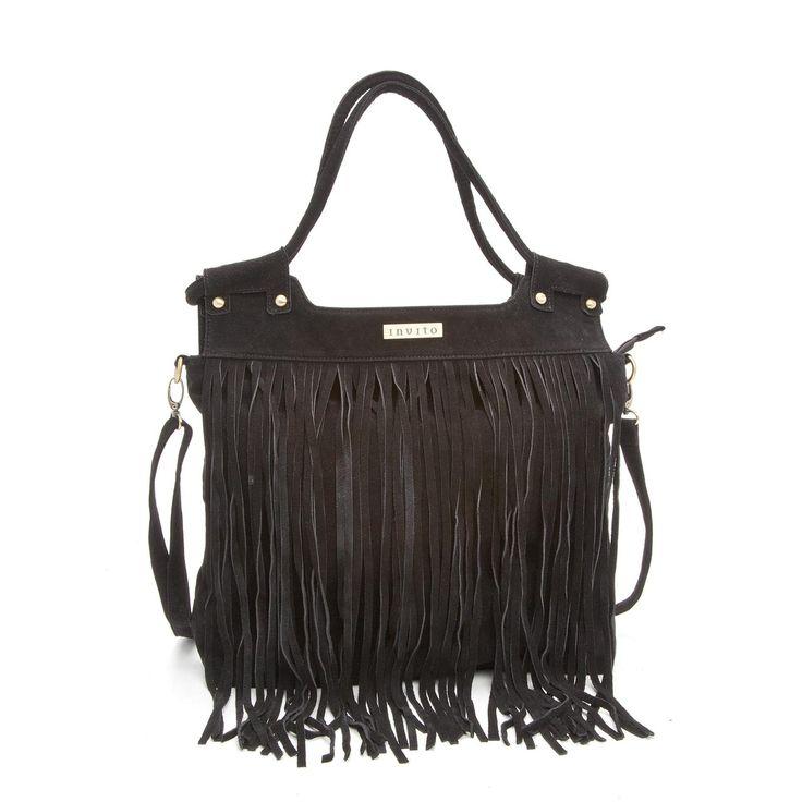 Invito - zwarte tas met franjes