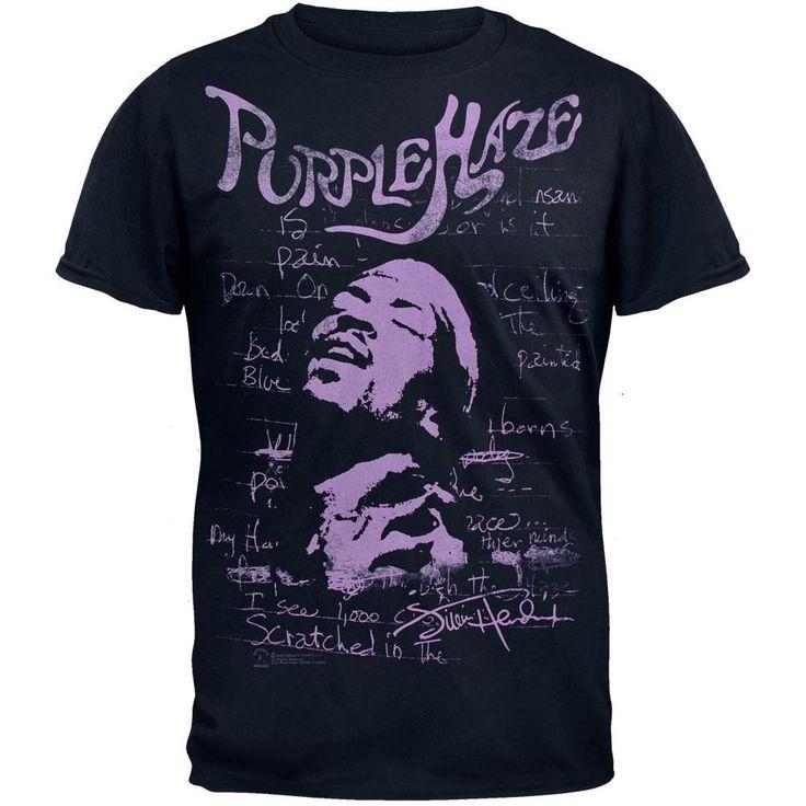 Jimi Hendrix - Purple Haze Navy Blue Soft T-Shirt