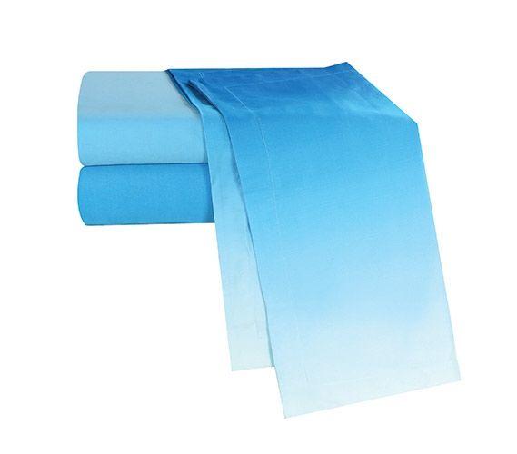 Ombre Aqua Twin XL Sheet Set Extra Long Twin Sheets Twin XL Bedding