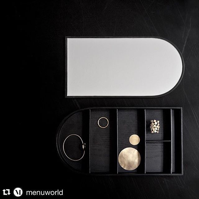 We ❤️ the @menuworld Jewellery boxes in black ash (pictured here) and white oak! Christmas present anyone...? #menu #jewellery #jewellerybox #christmaspresents #treatyoself #home #interiors #accessories