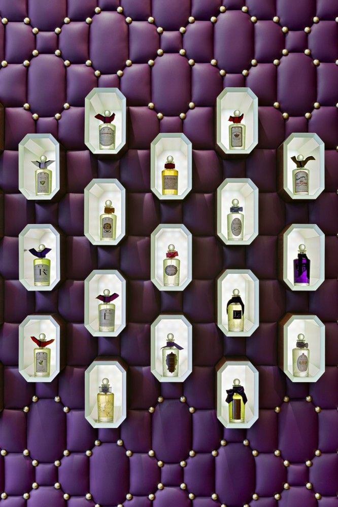 Perfumes display / Penhaligon Shop on regent street by Christopher Jenner / Retail Design Inspiration